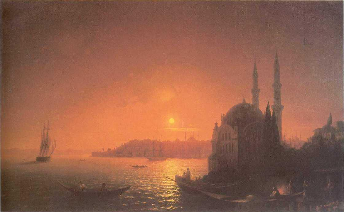 View of Constantinople by Moonlight - Ivan Aivazovsky