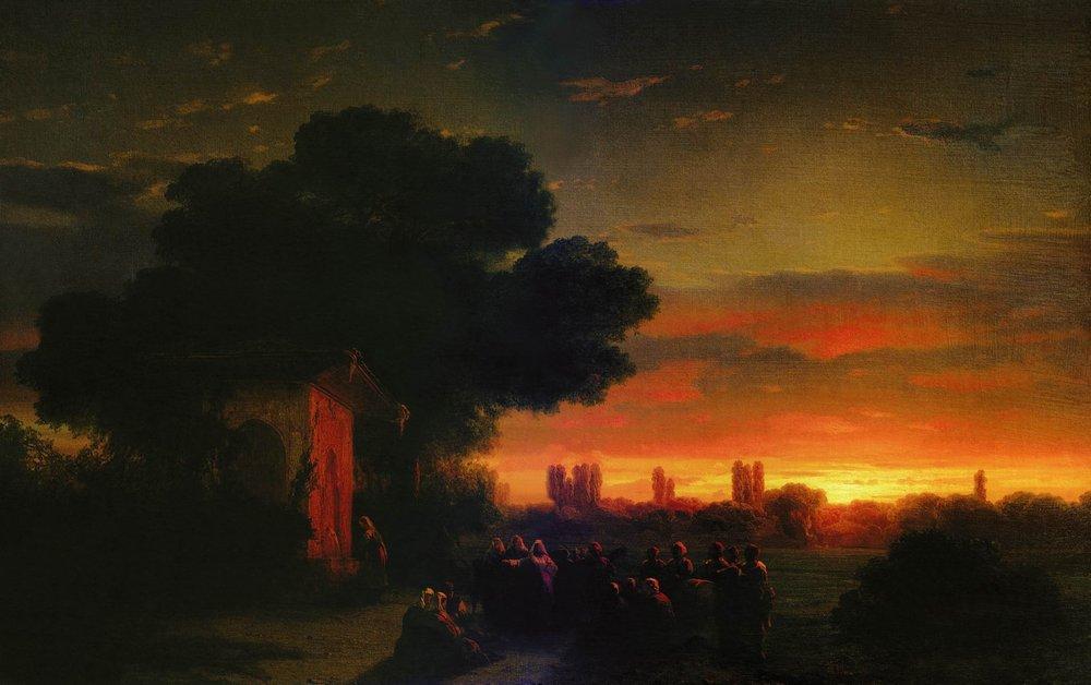 View of Crimea at sunset - Ivan Aivazovsky