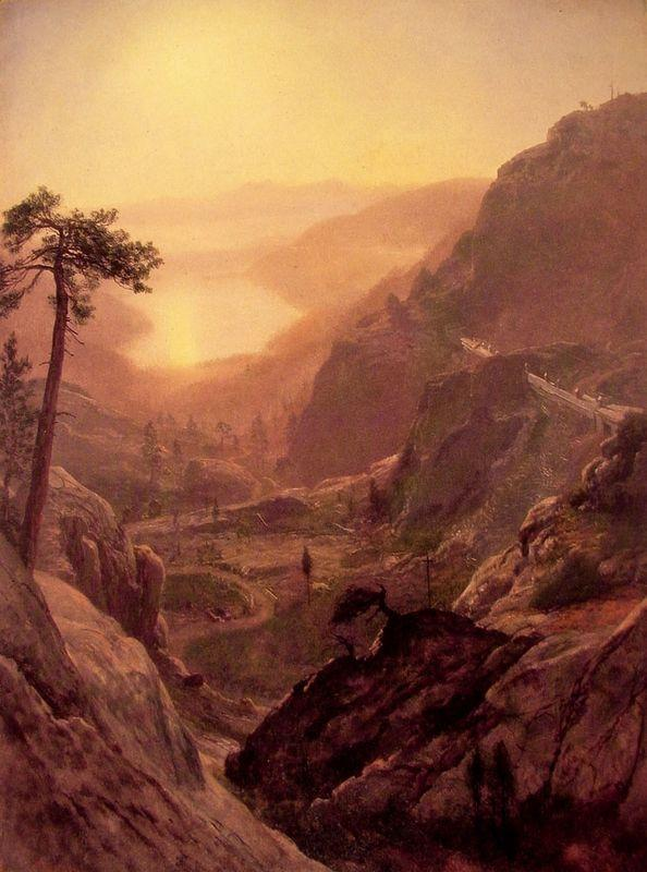View of Donner Lake, California - Albert Bierstadt