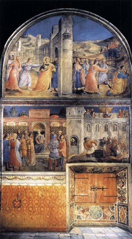 View of east wall of the chapel - Fra Angelico