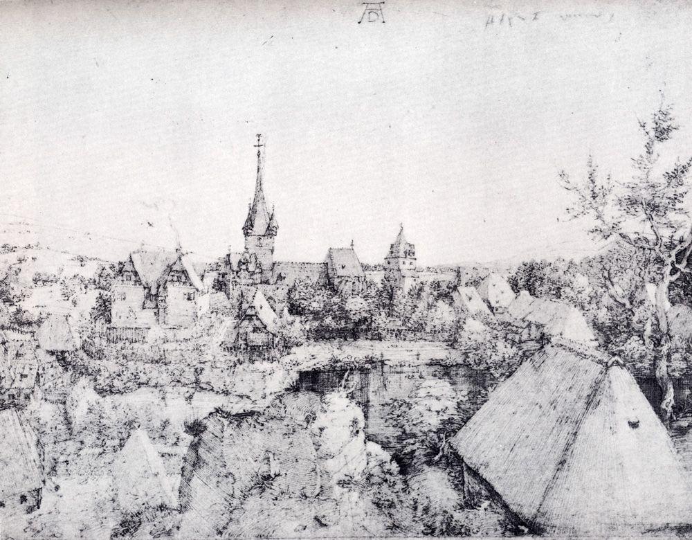 View Of Heroldsberg - Albrecht Durer