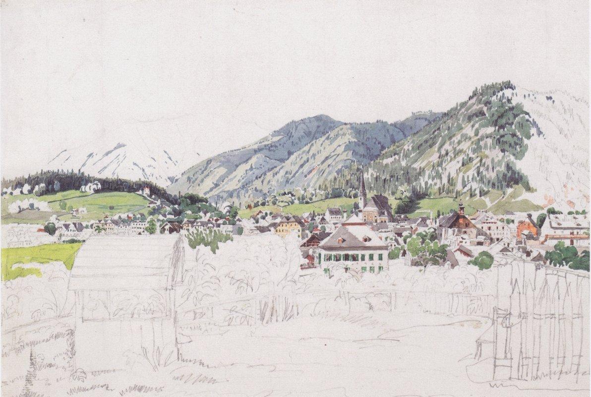 View of Ischl - Rudolf von Alt