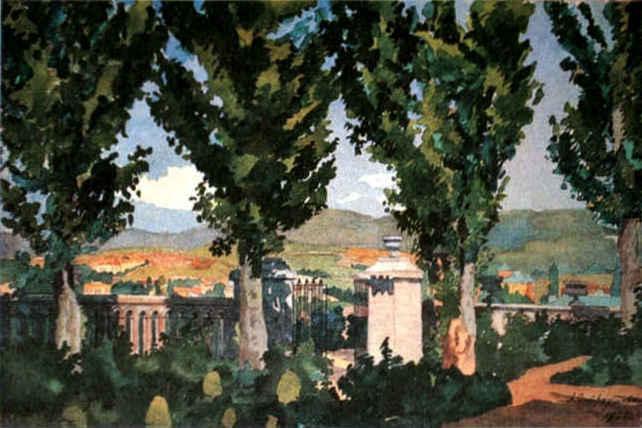 View of Kislovodsk - Anna Ostroumova-Lebedeva