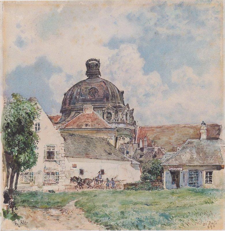 View of Klosterneuburg - Rudolf von Alt