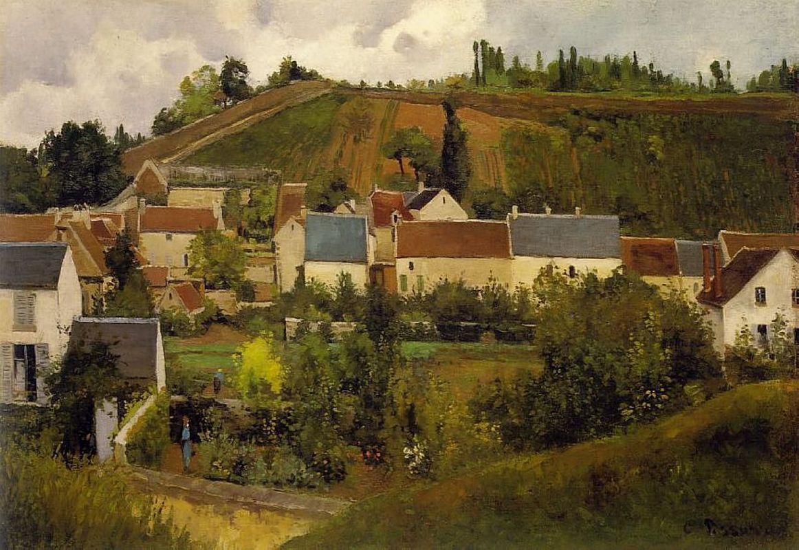 View of l'Hermitage, Jallais Hills, Pontoise - Camille Pissarro