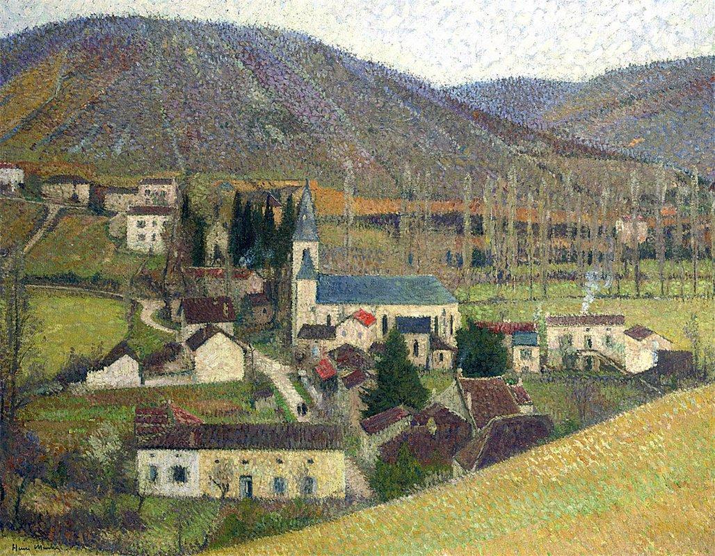 View of Labastide in Gray Weather - Henri Martin