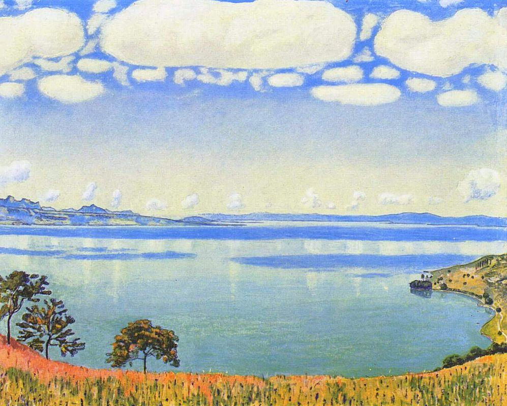View of Lake Leman from Chexbres - Ferdinand Hodler