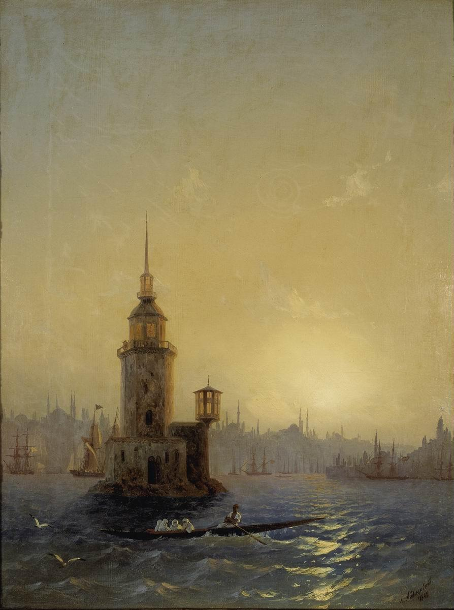View of Leandrovsk tower in Constantinople - Ivan Aivazovsky