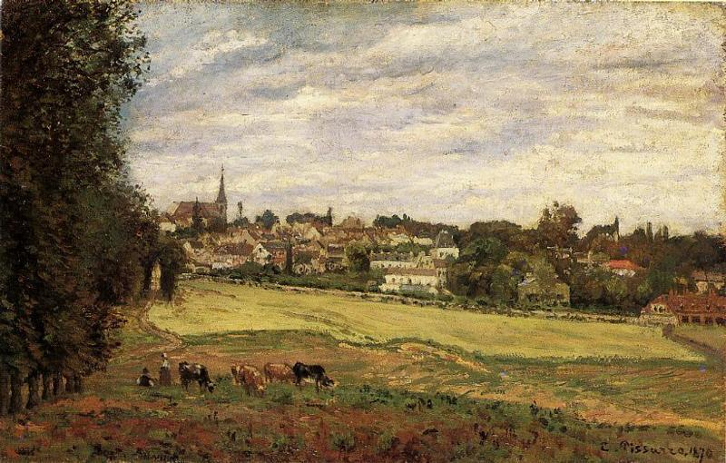 View of Marly le Roi - Camille Pissarro