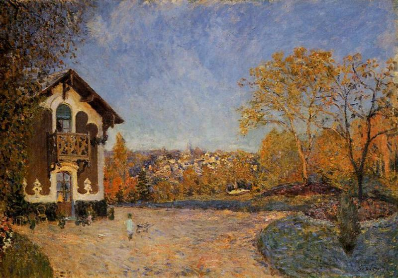 View of Marly le Roi from House at Coeur Colant - Alfred Sisley