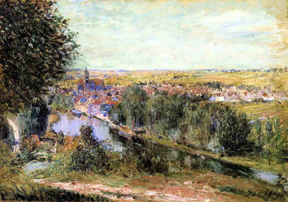 View of Moret - Alfred Sisley