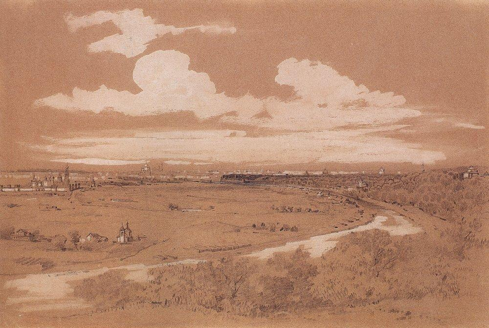View of Moscow from Sparrow Hills - Aleksey Savrasov