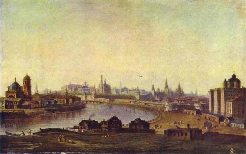 View of Moscow - Arkhip Kuindzhi