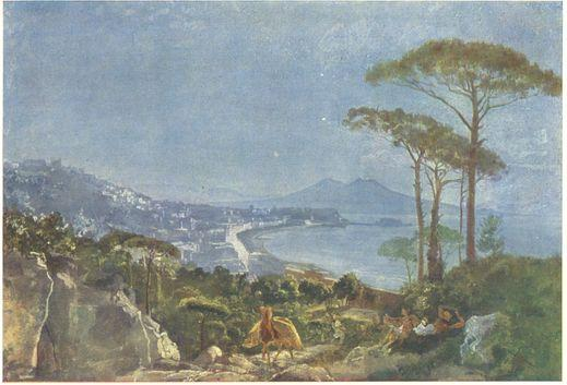 View of Naples from the road in Pozilippe - Alexander Ivanov