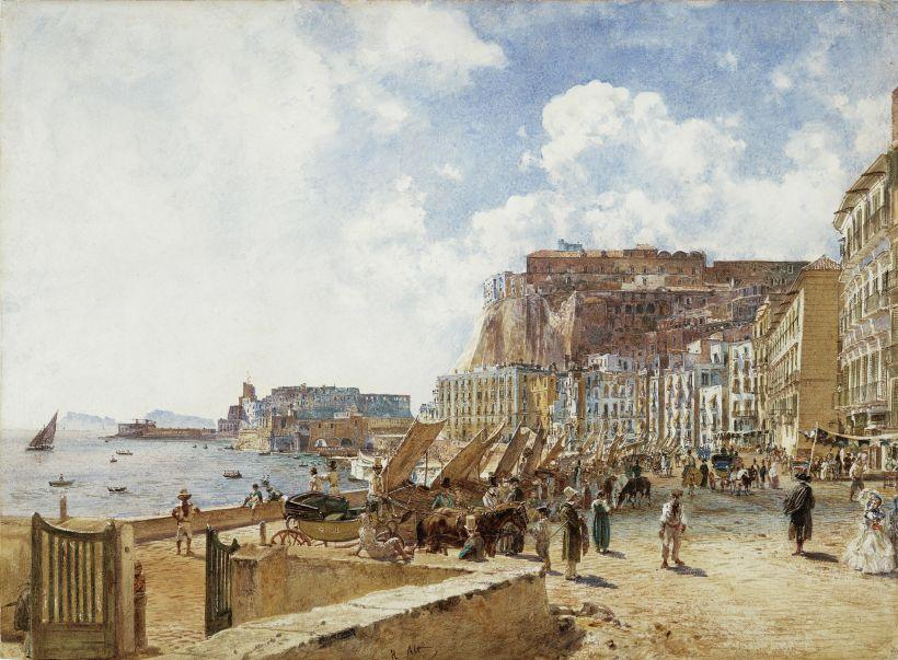 View of Naples - Rudolf von Alt
