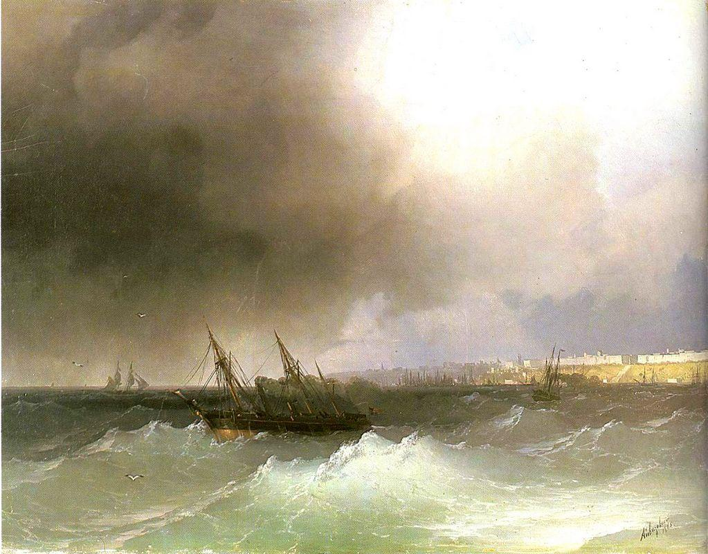 View of Odessa from the sea - Ivan Aivazovsky