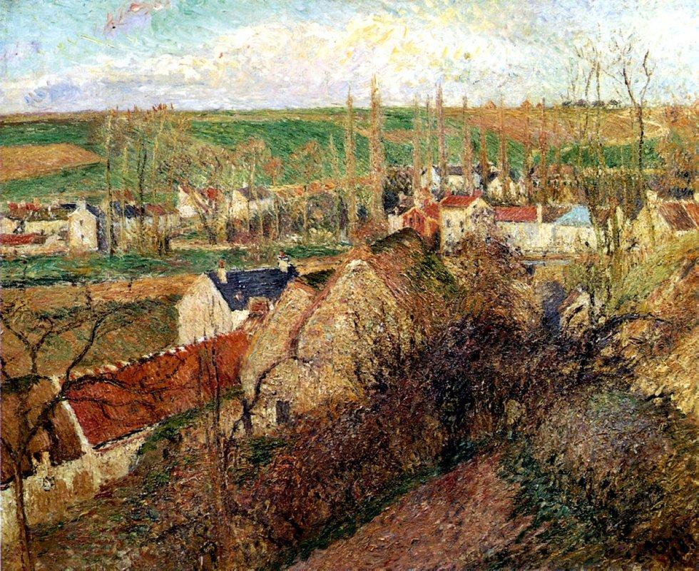View of Osny near Pontoise - Camille Pissarro