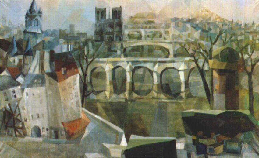 View of Paris - Aleksandra Ekster