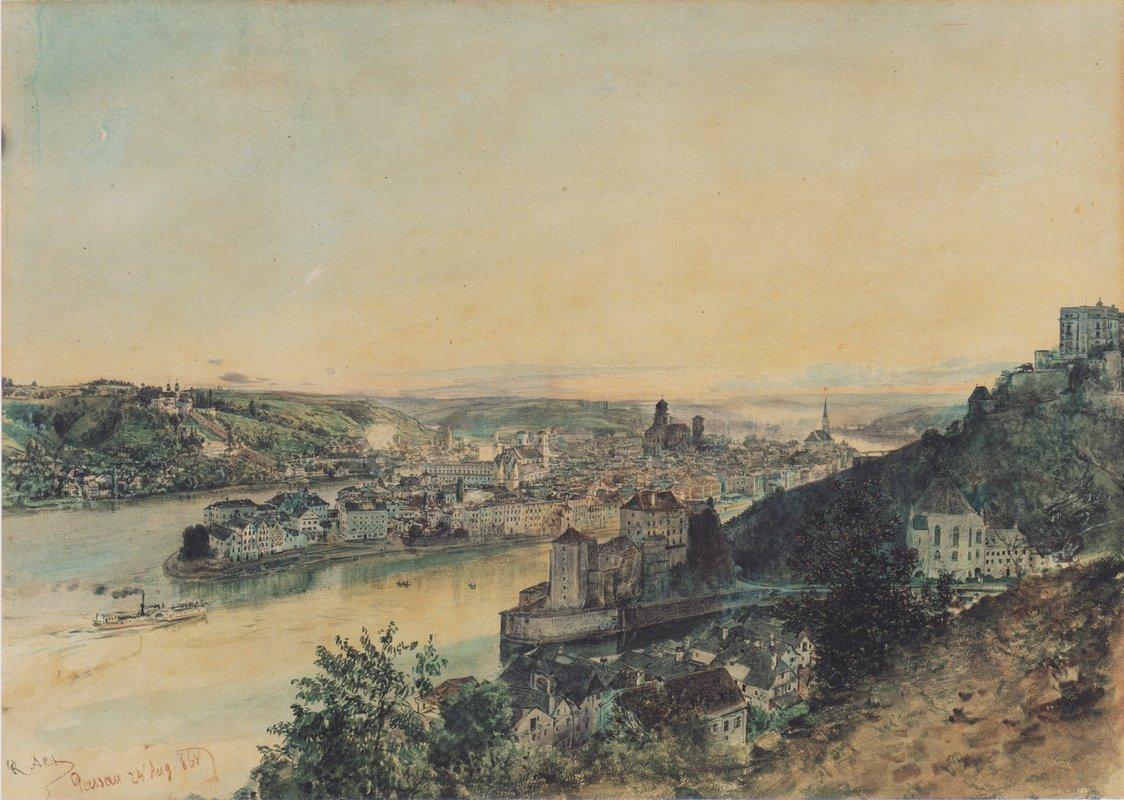 View of Passau - Rudolf von Alt