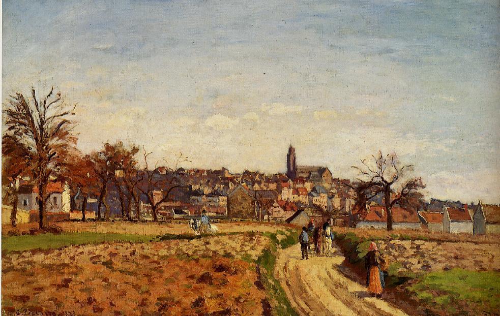 View of Pontoise - Camille Pissarro