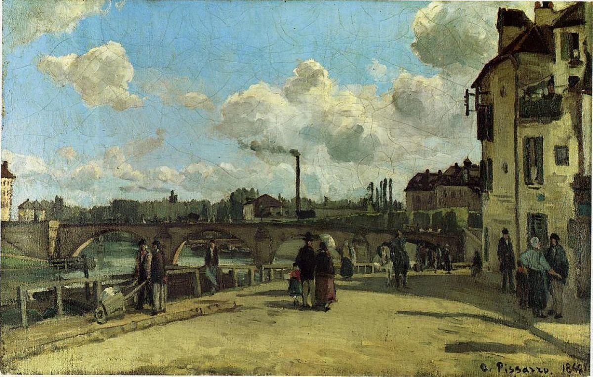 View of Pontoise: Quai au Pothuis - Camille Pissarro