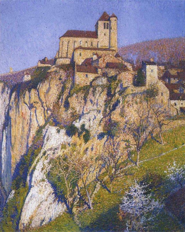 View of Saint Cirq Lapopie - Henri Martin