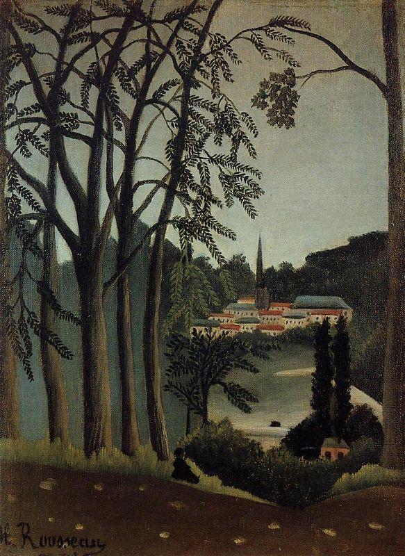 View of Saint Cloud - Henri Rousseau