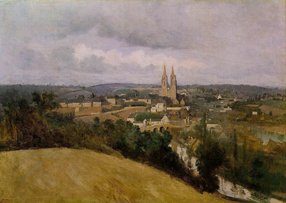 View of Saint Lo with the River Vire in the Foreground - Camille Corot
