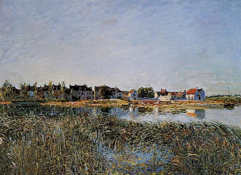 View of Saint Mammes - Alfred Sisley