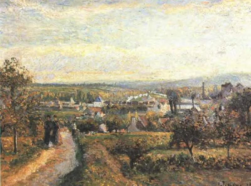View of Saint Ouen L'Aumone - Camille Pissarro