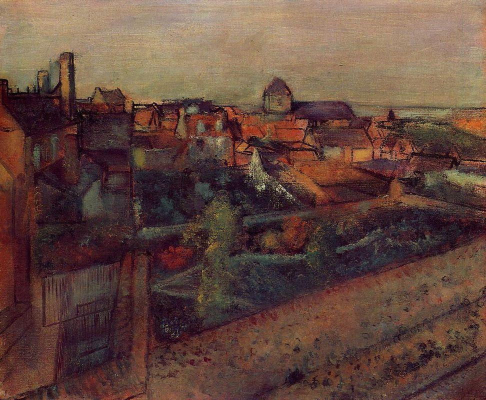 View of Saint-Valery-sur-Somme - Edgar Degas