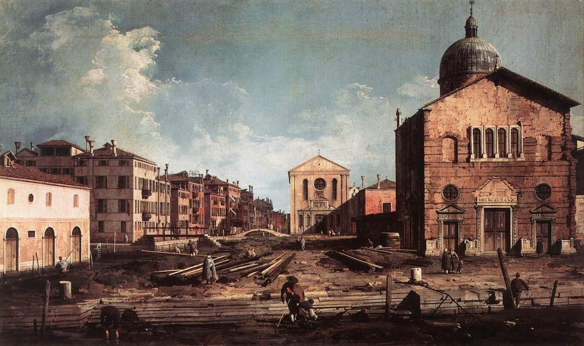 View of San Giuseppe di Castello - Canaletto