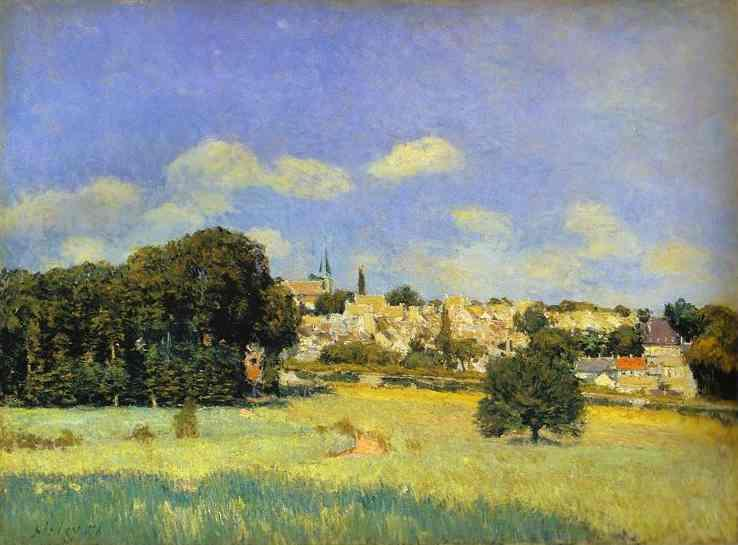 View of St Cloud - Alfred Sisley