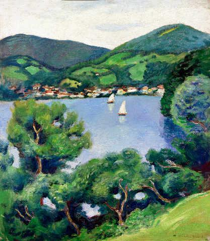 View of Tegernsee - August Macke