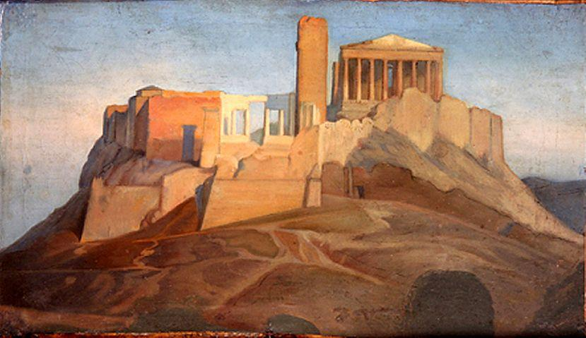 View of the Acropolis of Athens - Jean Auguste Dominique Ingres