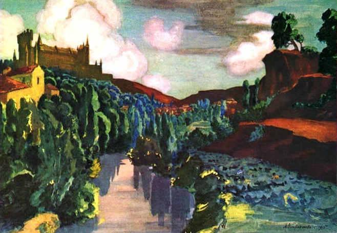 View of the Alcazar. Segovia. - Anna Ostroumova-Lebedeva