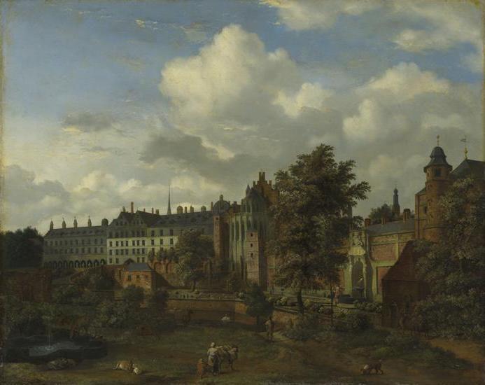 View of the ancient castle of the Dukes of Burgundy in Brussels - Adriaen van de Velde
