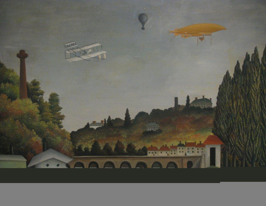 View of the Bridge at Sevres and the Hills at Clamart St. Cloud and Bellevue - Henri Rousseau