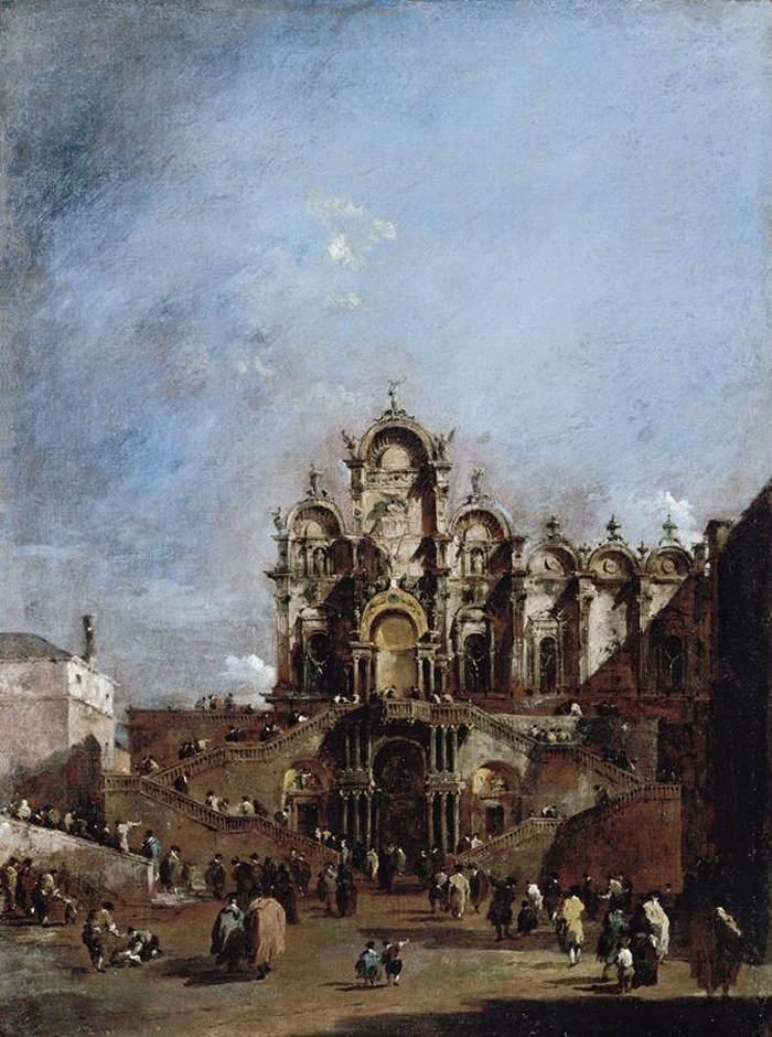 View of the Campo San Zanipolo in Venice - Francesco Guardi