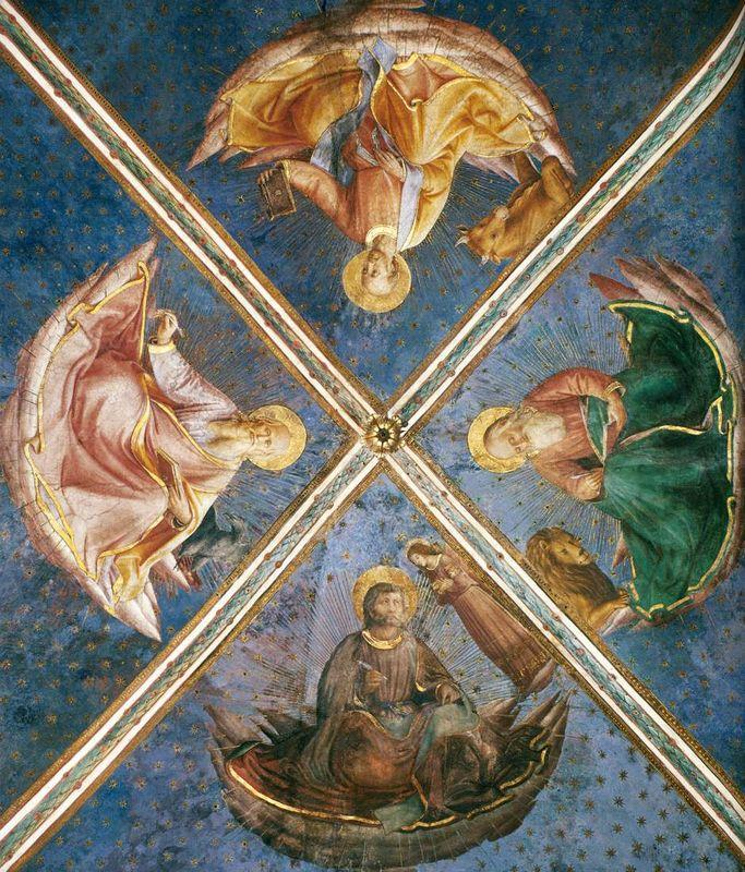 View of the chapel vaulting - Fra Angelico