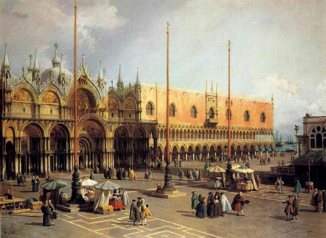 View of the Church and the Doge s Palace from the Procuratie Vecchie - Canaletto