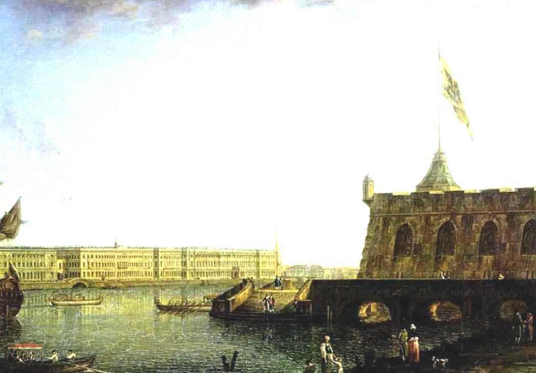 View of the Fortress of St. Peter and Paul and the Palace Embankmant - Fyodor Alekseyev