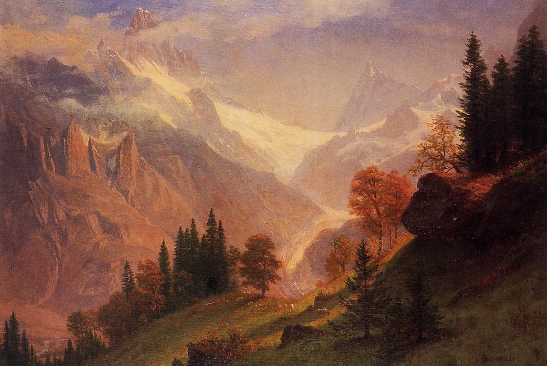 View of the Grunewald - Albert Bierstadt