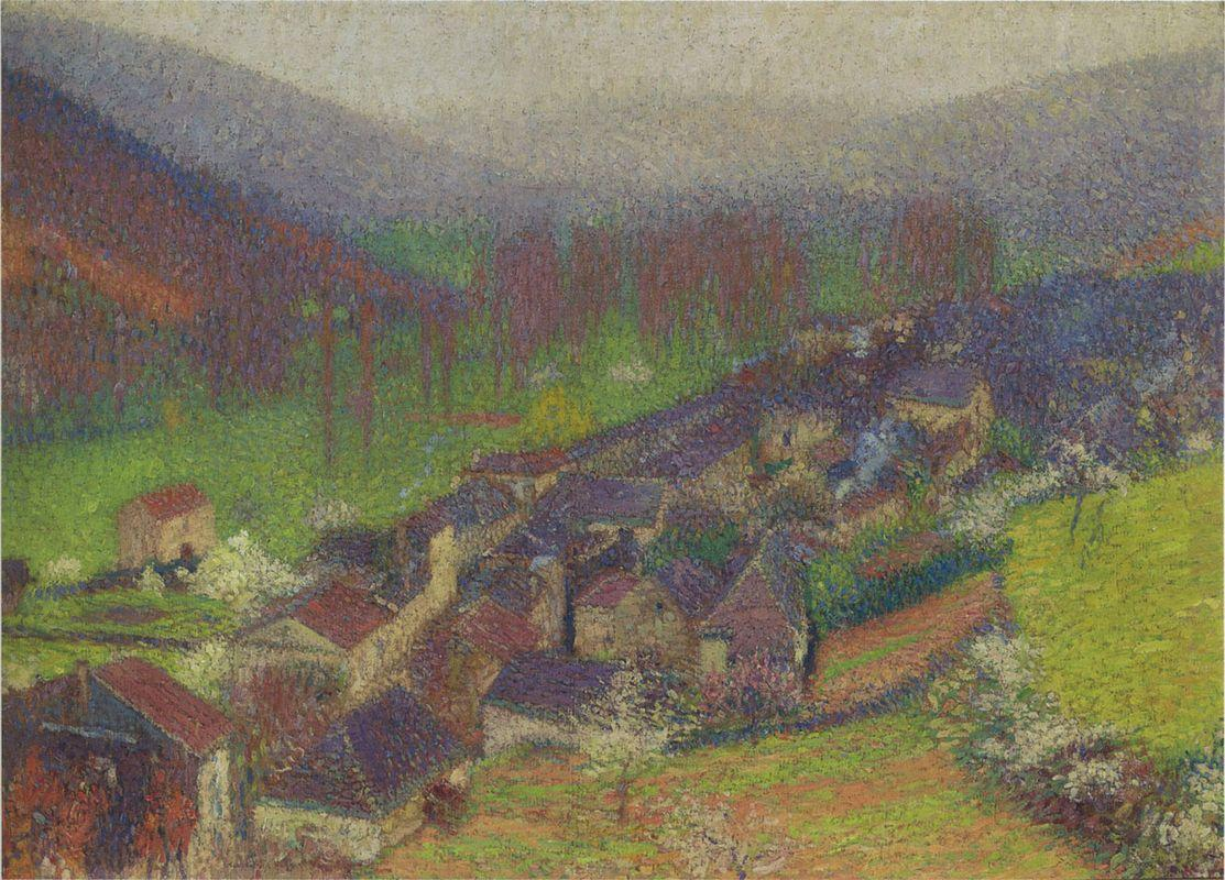 View of the Labastide du Vert below to Marquayrol - Henri Martin