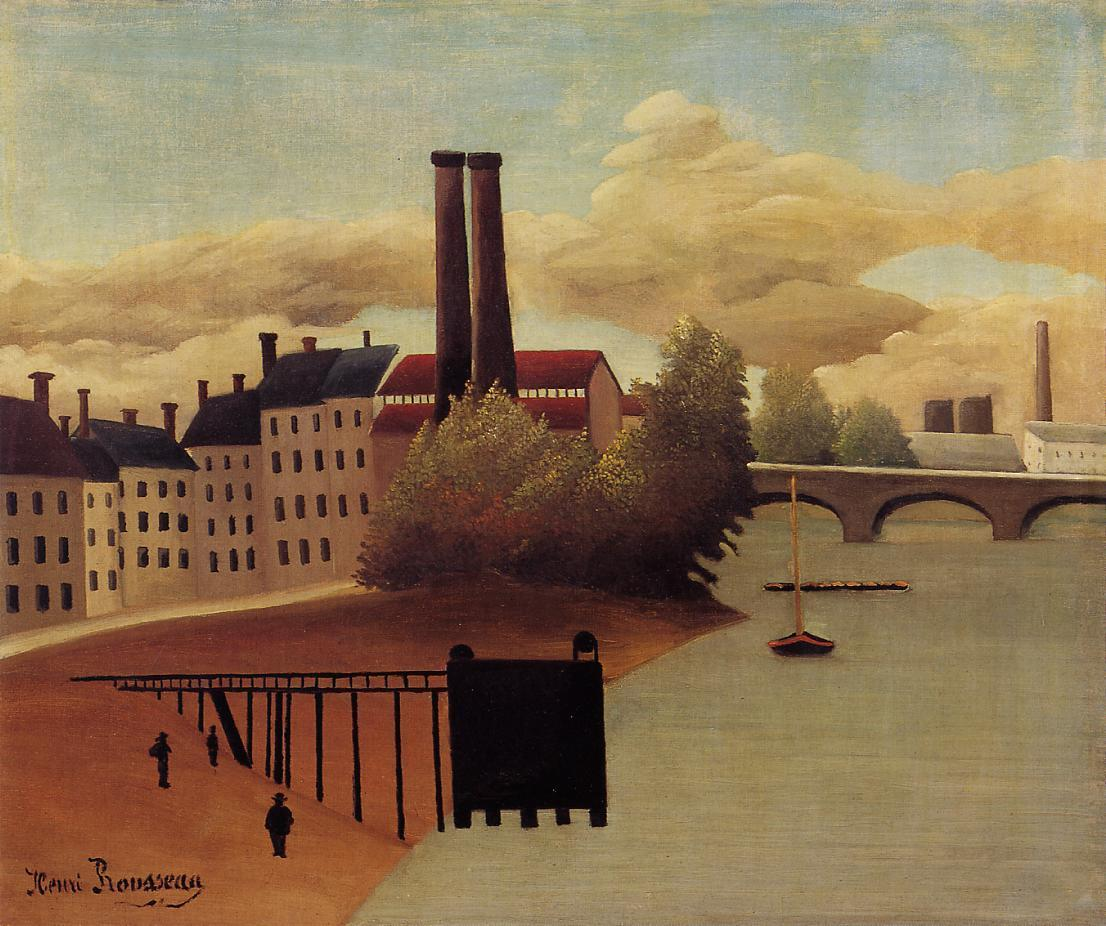 View of the Outskirts of Paris - Henri Rousseau