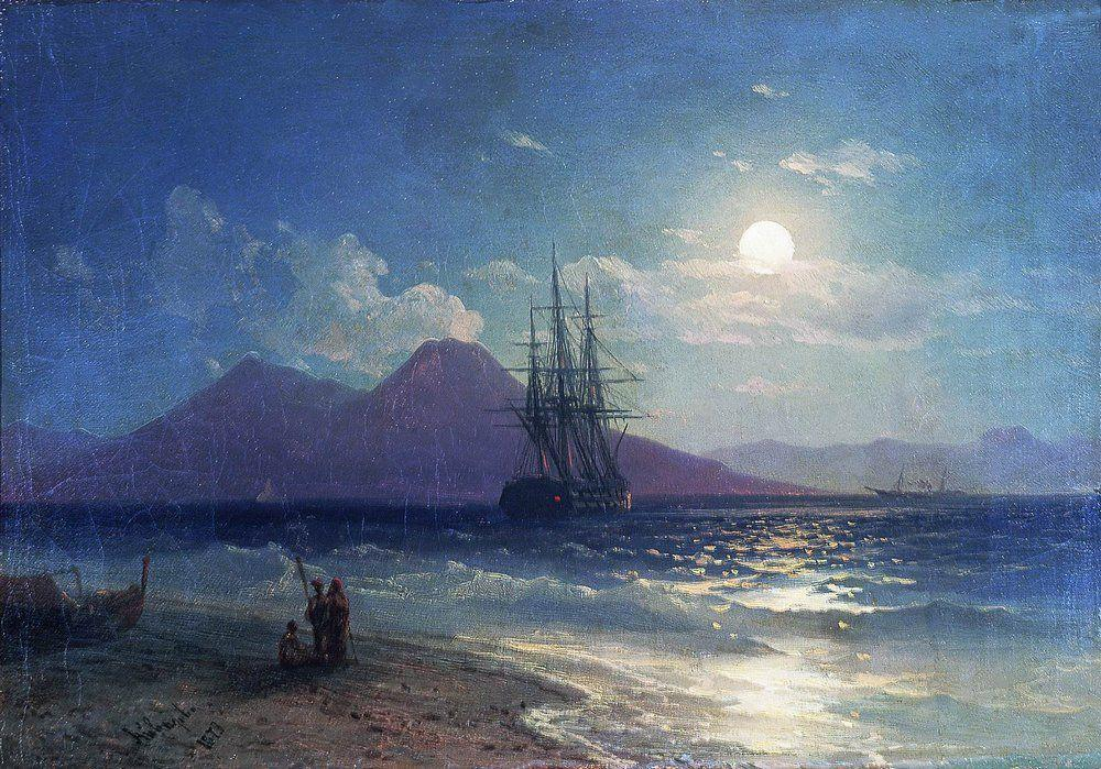 View of the sea at night - Ivan Aivazovsky