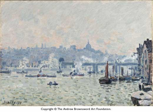 View of the Thames Charing Cross Bridge - Alfred Sisley