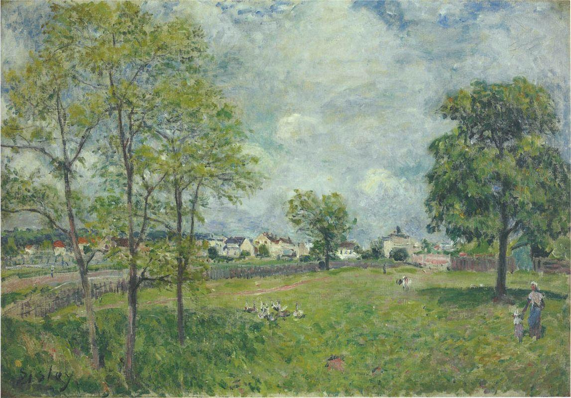 View of the Village - Alfred Sisley