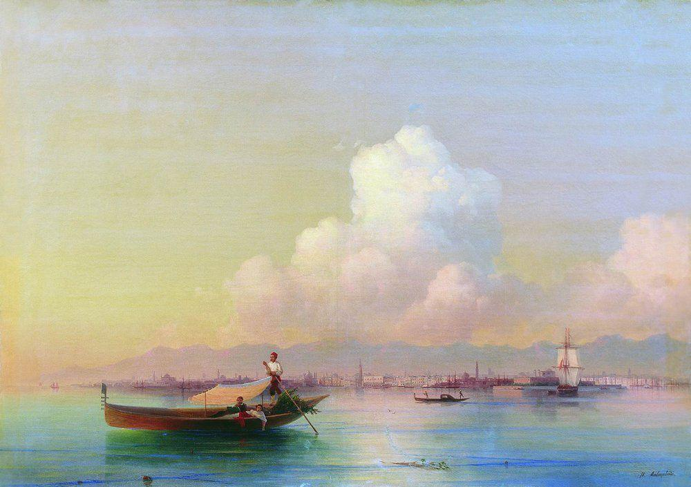 View of Venice from Lido - Ivan Aivazovsky