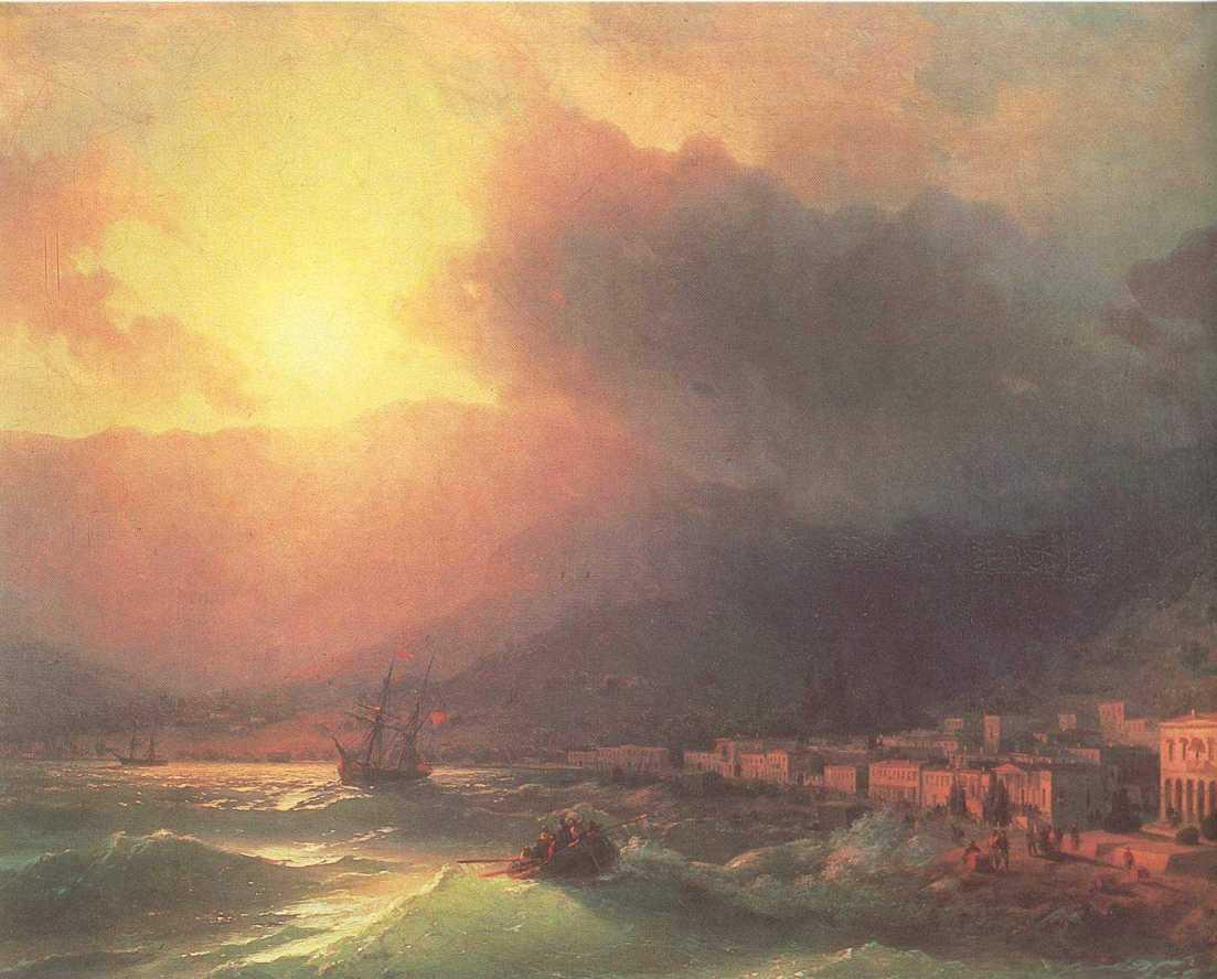 View of Yalta in evening - Ivan Aivazovsky